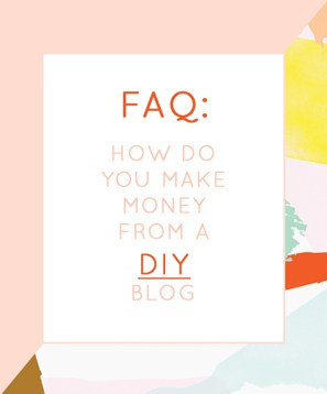 how you make money from a DIY blog?