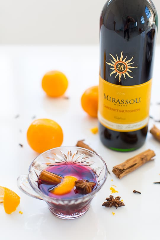 Mirassou Cabernet Sauvignon wine for hot mulled wine recipes by Houston blogger, Ashley Rose of Sugar & Cloth #holiday #wine #mulled #pot #spicedwine #hotwine #simple #christmas #thanksgiving