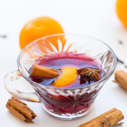 hot spiced wine recipe - sugar & cloth
