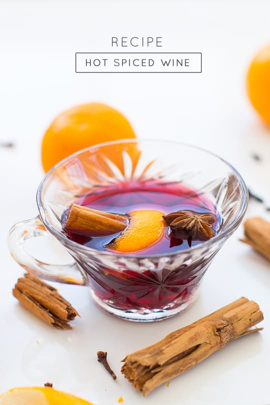 Simple holiday hot spiced wine recipe - sugar & cloth Houston blogger Ashley Rose  #holiday #wine #mulled #pot #spicedwine #hotwine #simple #christmas #thanksgiving