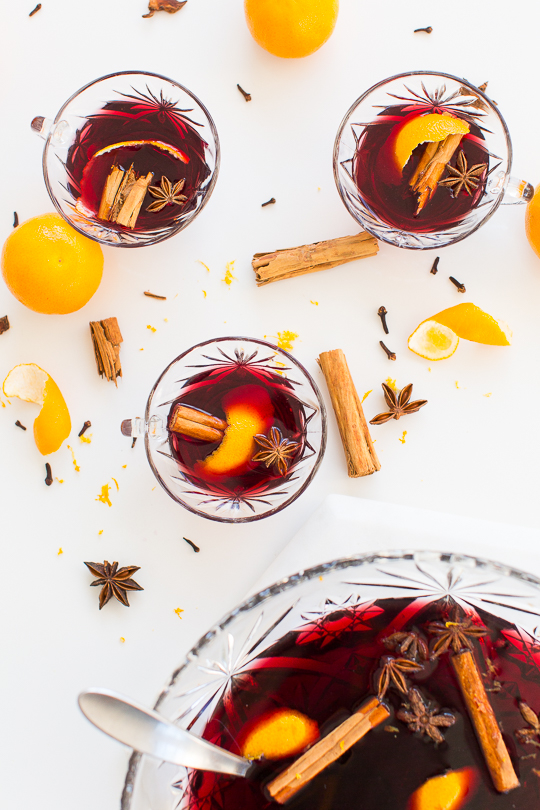 hot spiced wine recipe - sugar & cloth