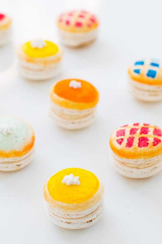 DIY Pie macarons - Sugar & Cloth
