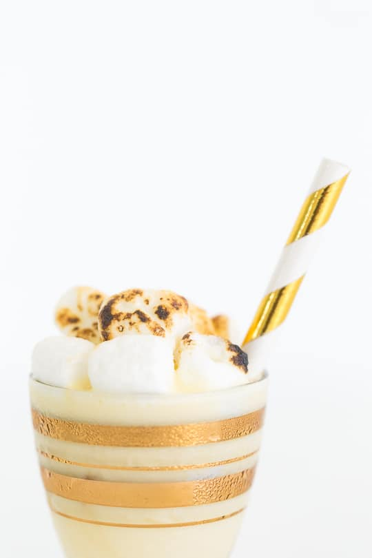 Toasted Marshmallow Ice Cream Shot Recipe - sugar & cloth - ashley rose