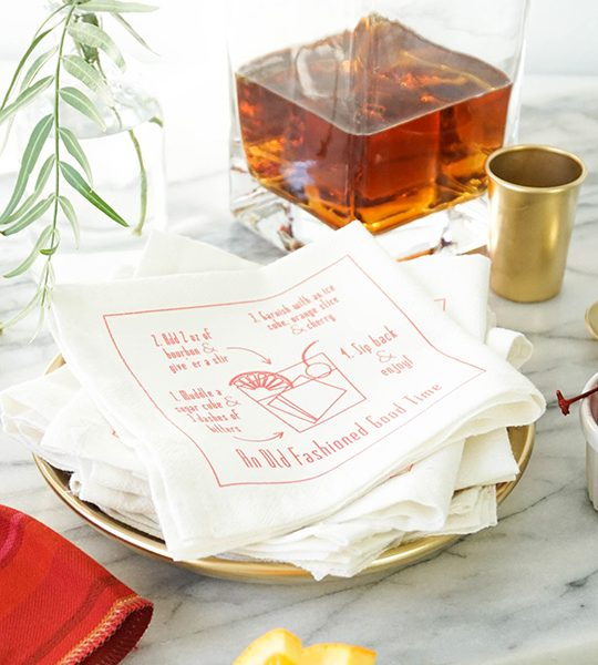 DIY recipe cocktail napkins - sugar & cloth