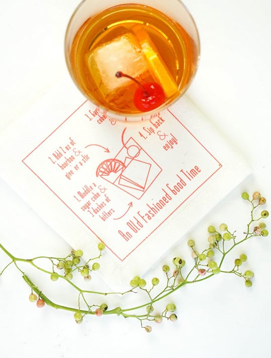 old-fashioned-cocktail-napkins