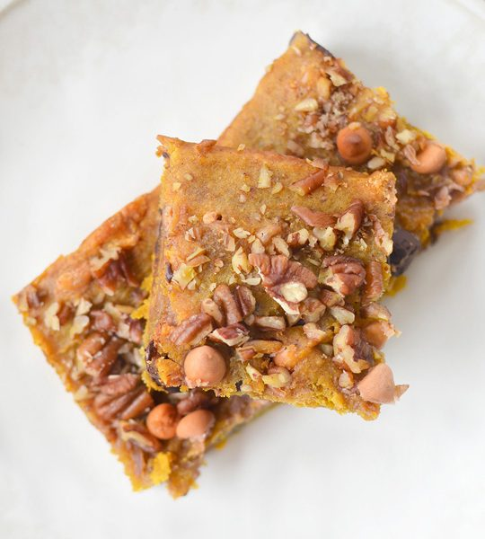 Pumpkin blondies recipe - sugar & cloth