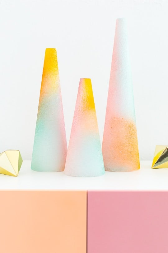 DIY foam gradient trees - sugar and cloth