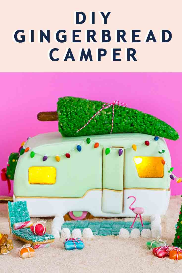 printable gingerbread house template DIY camper