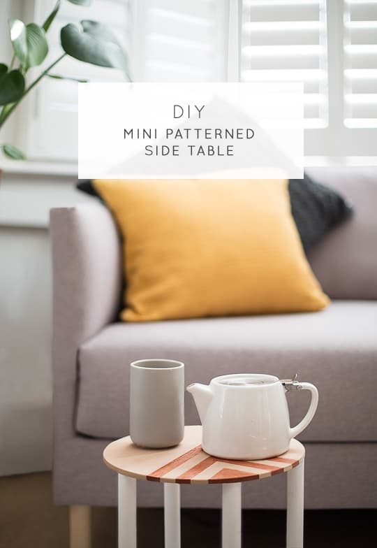 DIY mini patterned side table - Sugar & Cloth