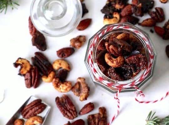 gingerbread candied nuts recipe - sugar and cloth