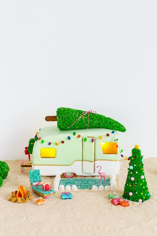 DIY retro camper gingerbread house and recipe - sugar and cloth