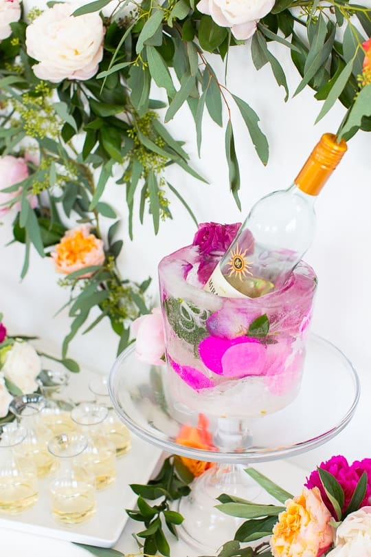 DIY frozen wine bucket - sugar & cloth