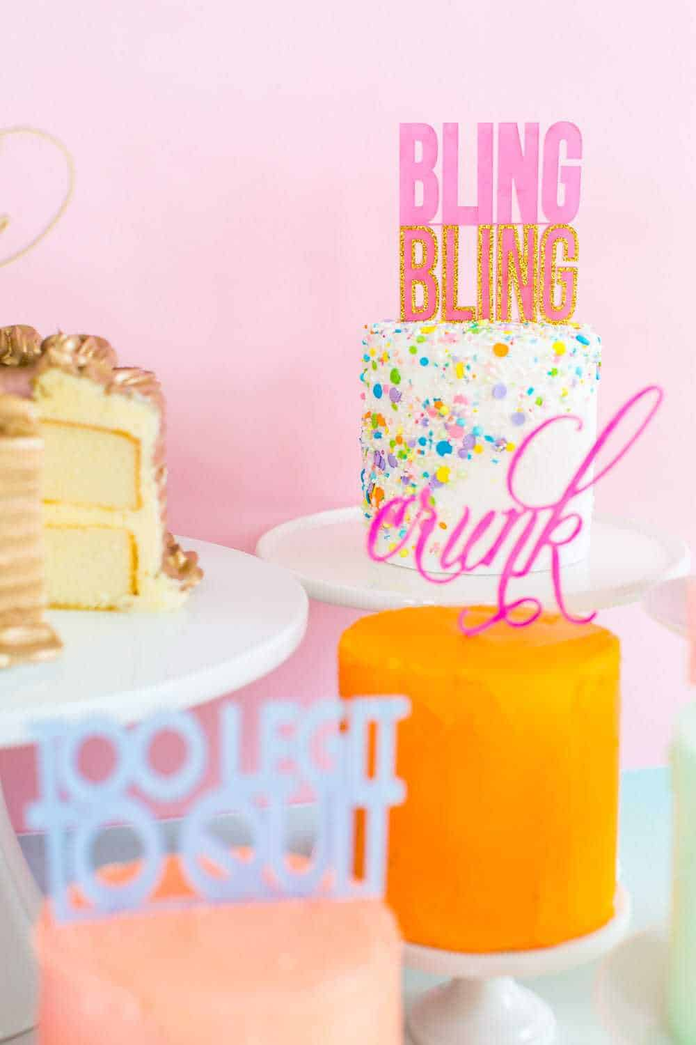 DIY Slang Cakes - sugar and cloth