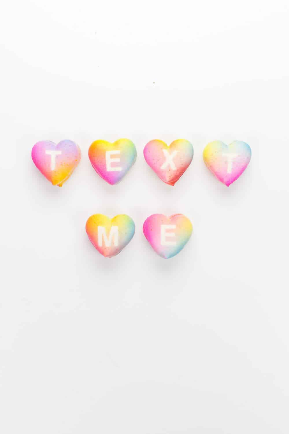 DIY gradient message macarons - sugar and cloth