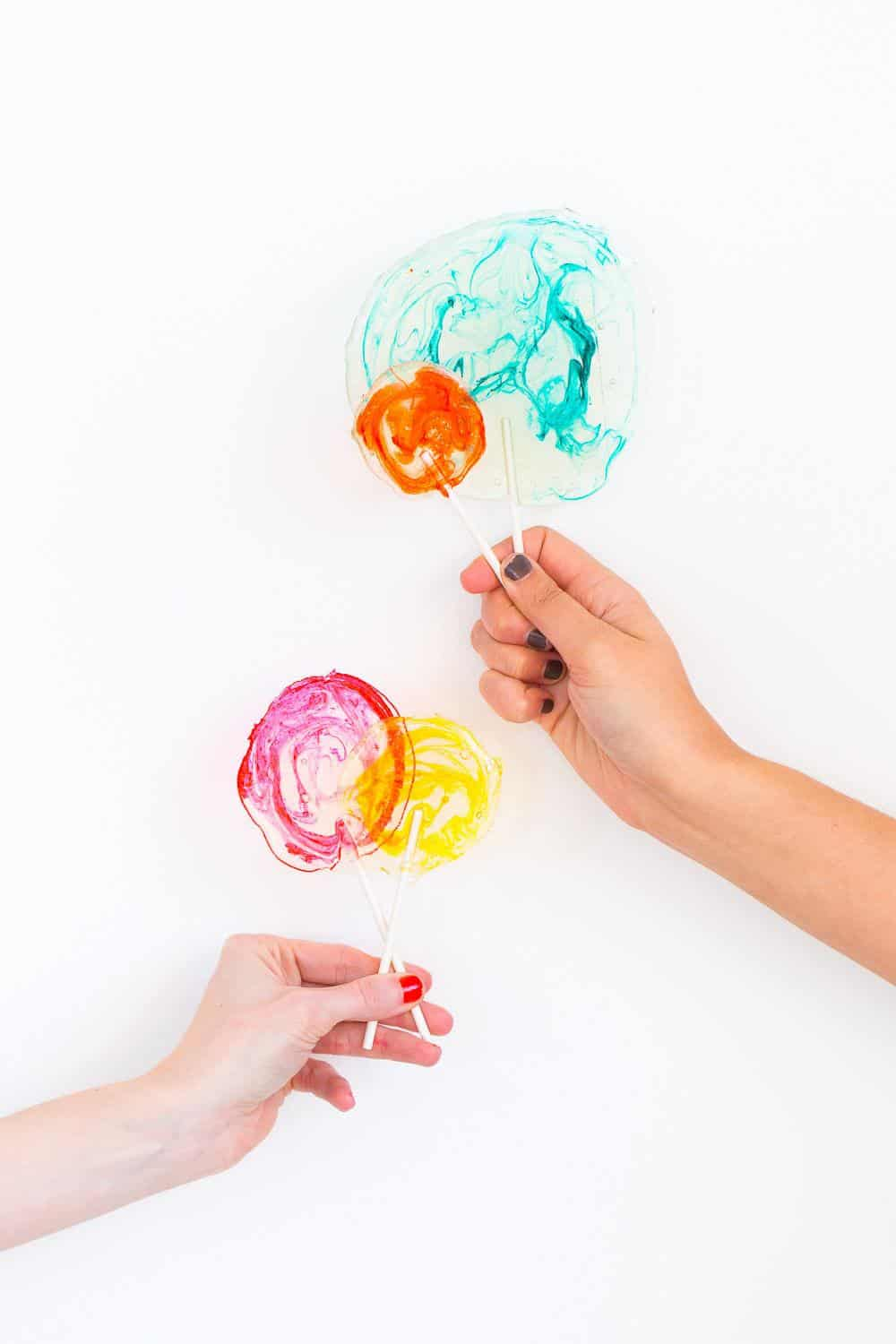 Step 6 -DIY Marble Spiked Lollipops by Sugar & Cloth Top Houston Lifestyle Blogger Ashley Rose #lollipops #diy #recipe #marble #spiked #tequila #alcohol #adult #candy #sweets