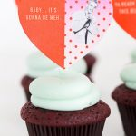 DIY Pop Culture Song Lyric Cupcake Toppers