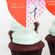 DIY pop culture lyrics cupcake toppers - sugar and cloth