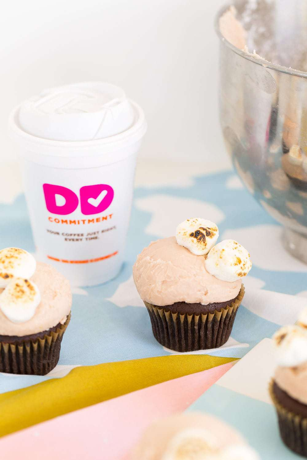 Dunkin Donuts Hot Chocolate Cupcakes-8 | Sugar & Cloth