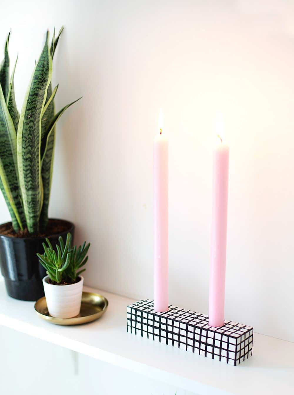 patterned #DIY candle holder - sugar and cloth
