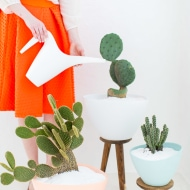 DIY mid century planters - sugar and cloth