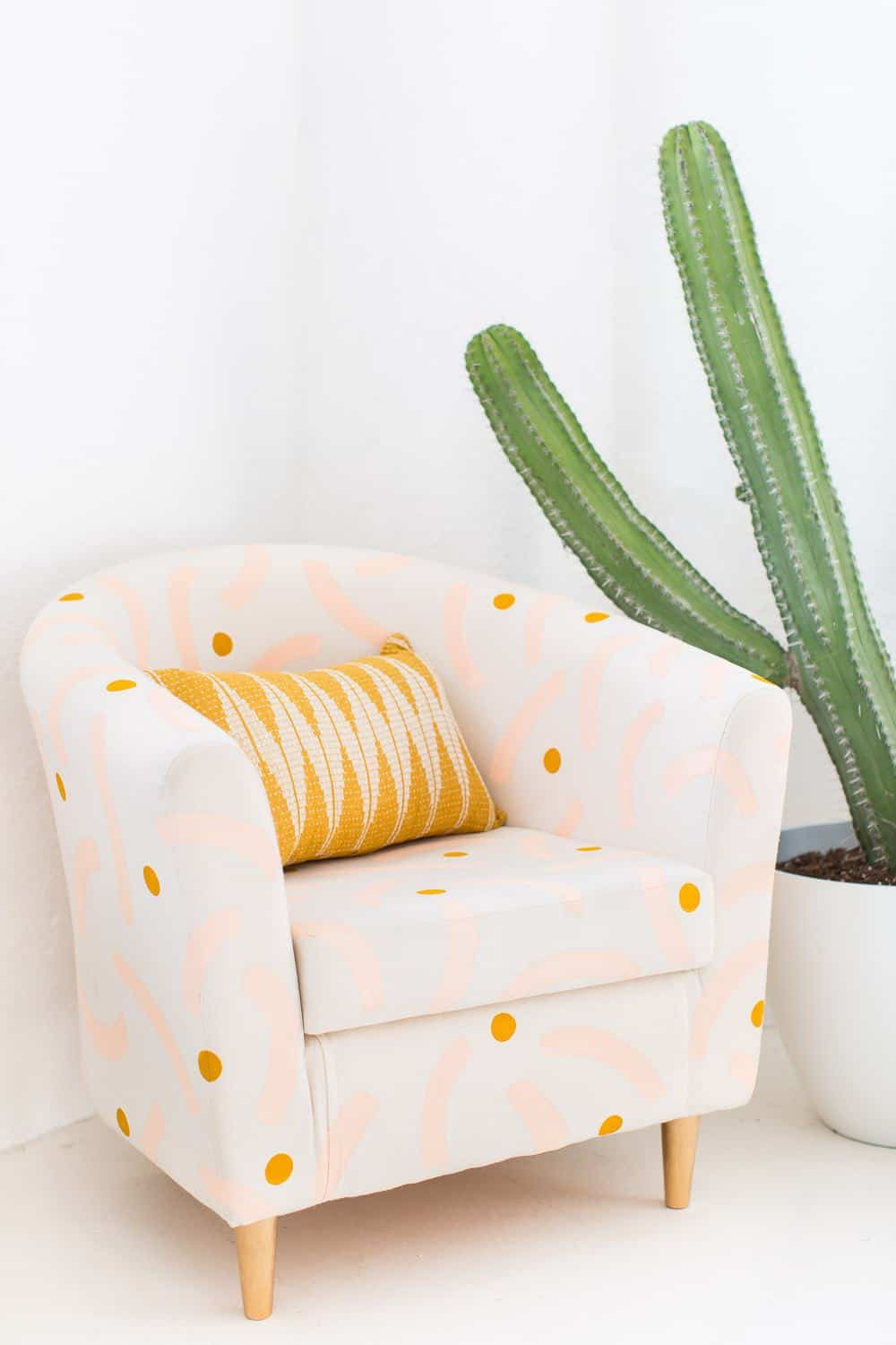 DIY patterned painted char - sugar and cloth