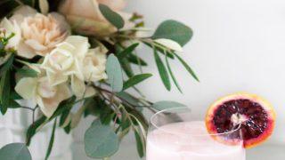 Blood Orange & Rose Creamsicle Cocktail
