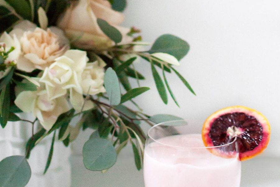 Blood Orange & Rose Creamsicle Cocktail - Sugar & Cloth