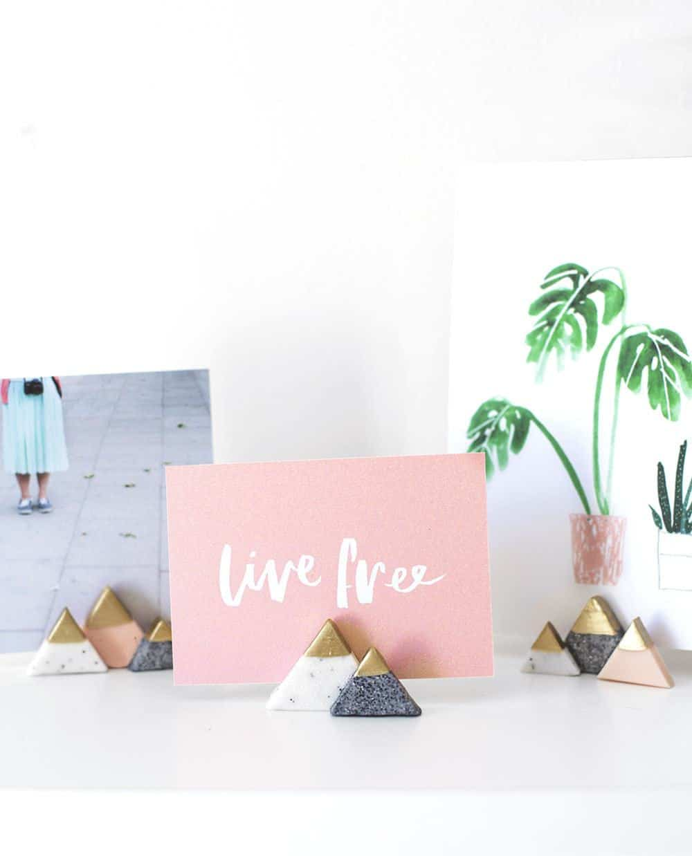 DIY mini mountain photo holders - sugar and cloth