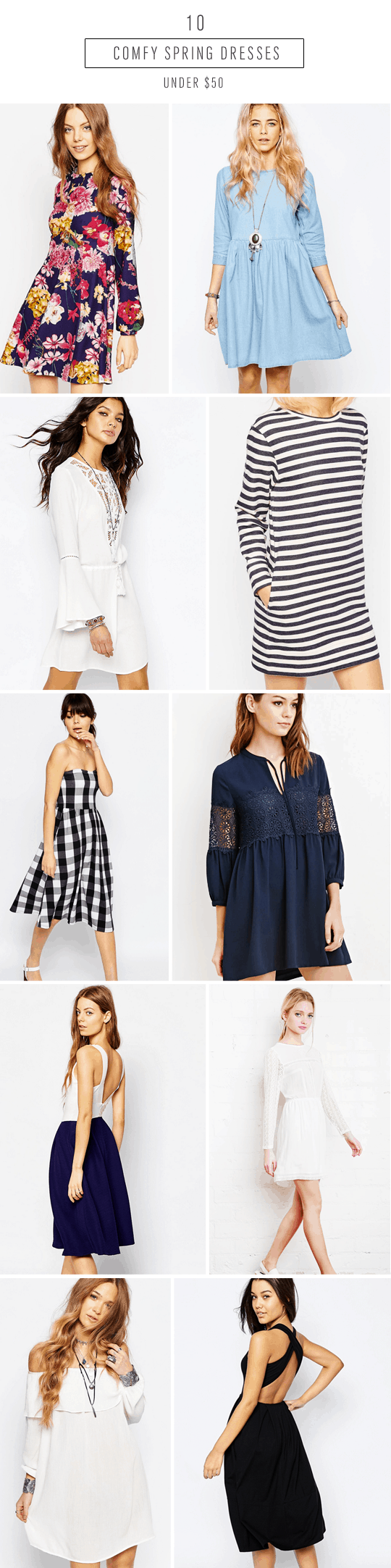 2016 comfortable spring dresses under $50 - sugar and cloth - fashion trend