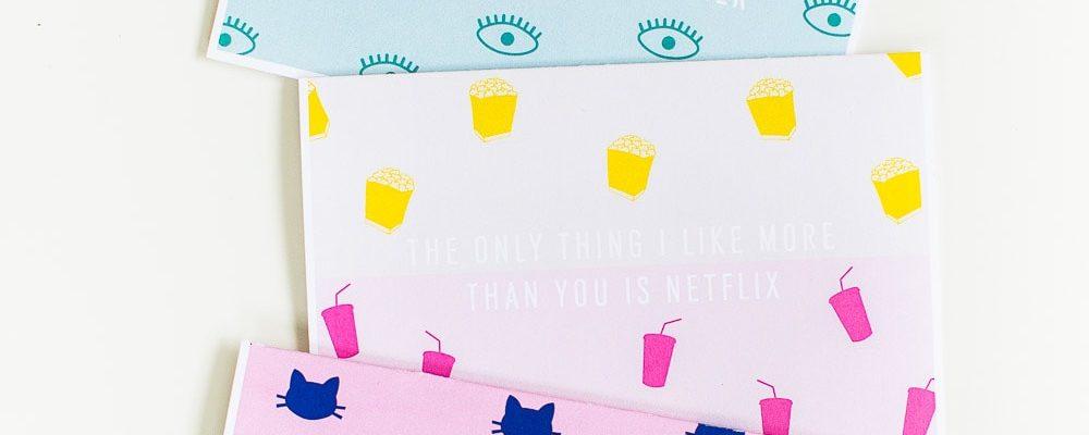 DIY funny printable valentines cards - sugar and cloth