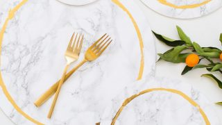 Decorative DIY Marble Plates