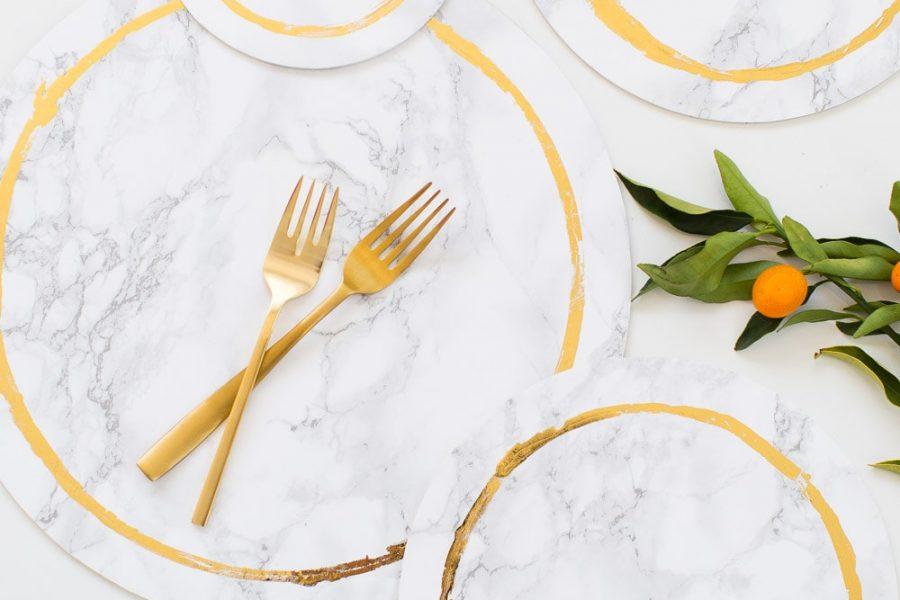 decorative DIY marble plates - sugar and cloth - weddings - entertaining