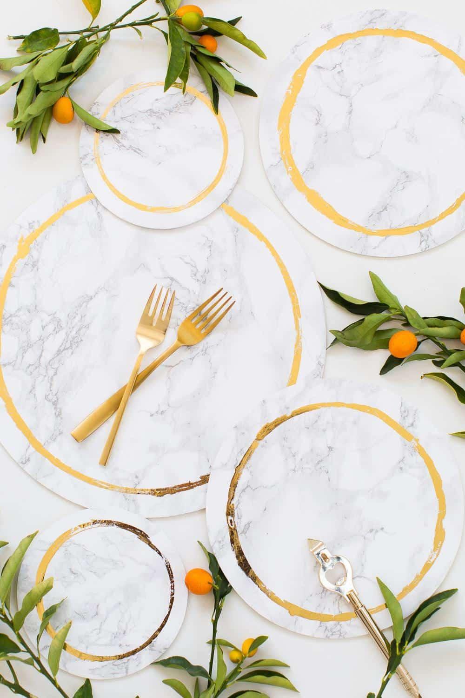 Decorative Diy Marble Plates Sugar Amp Cloth