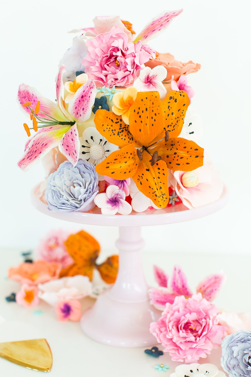 Because Why Not Diy Sugar Flower Cake Sugar Cloth