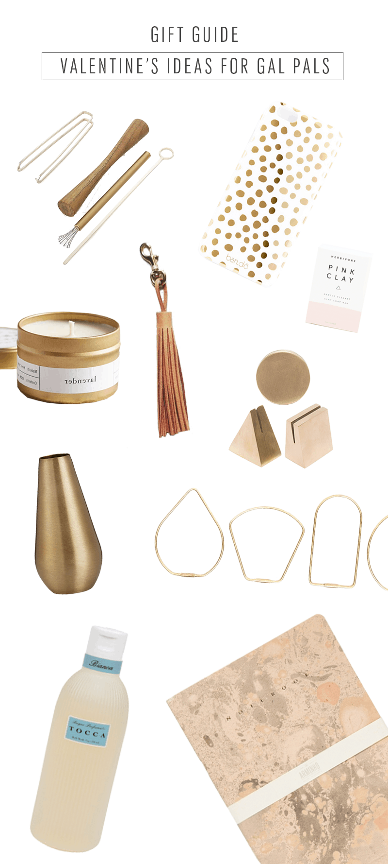 gift guide - valentine's gift ideas for your gal - sugar and cloth