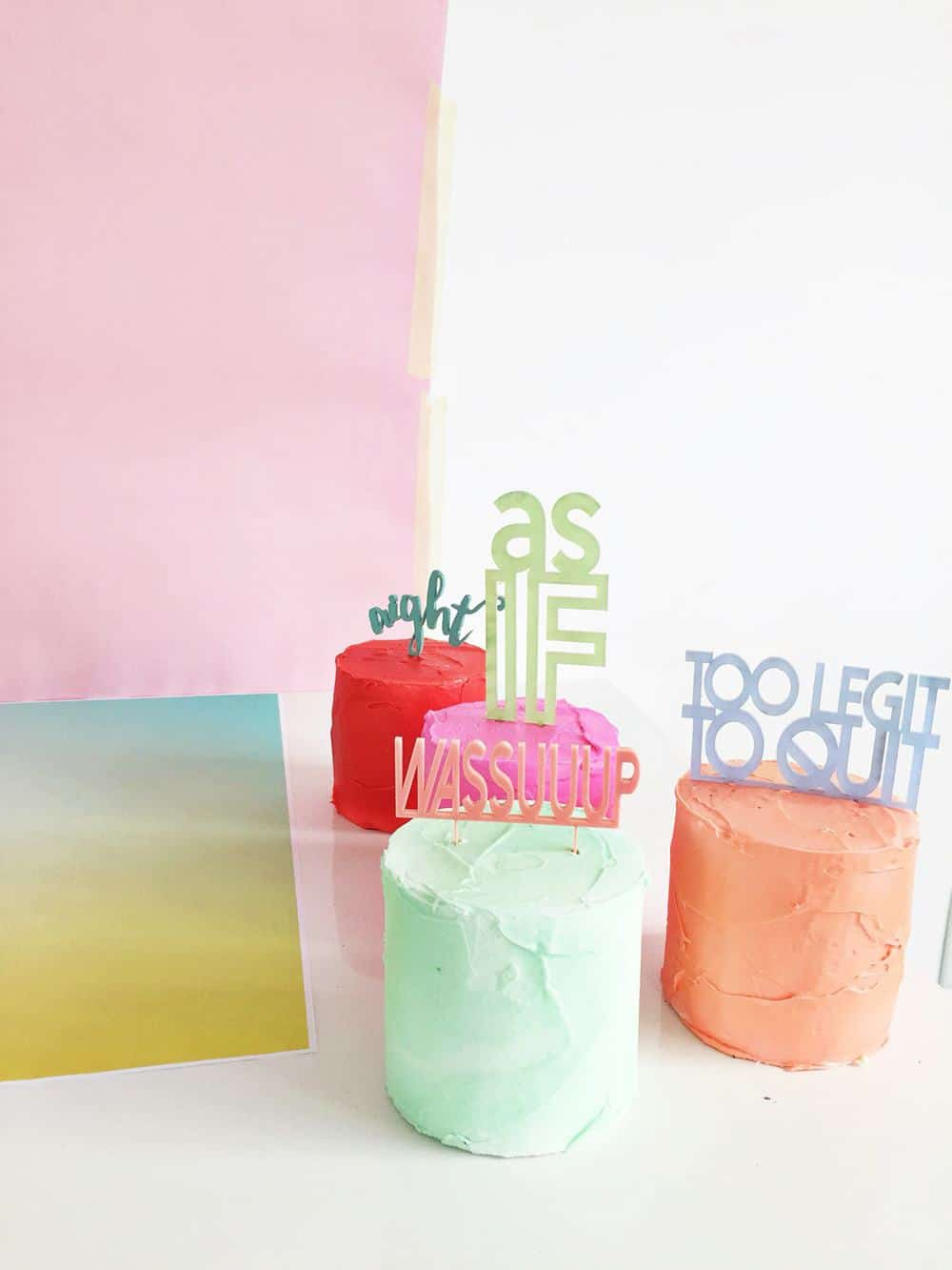 slang cakes DIY - sugar and cloth - behind the scenes