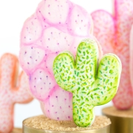 DIY pink cactus macarons - sugar and cloth