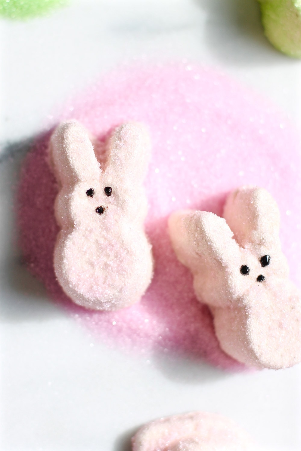 photo of pink spiked peeps marshmallows recipe by top Houston lifestyle blogger Ashley Rose of Sugar & Cloth