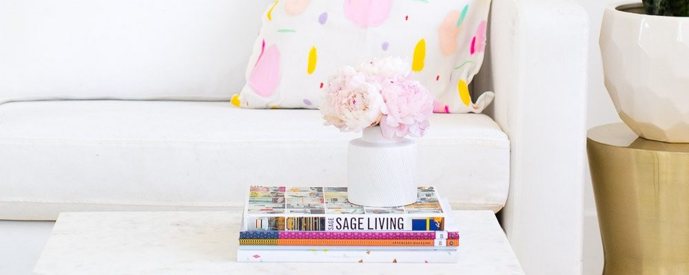 DIY marble and gold side table - sugar and cloth - home decor ideas