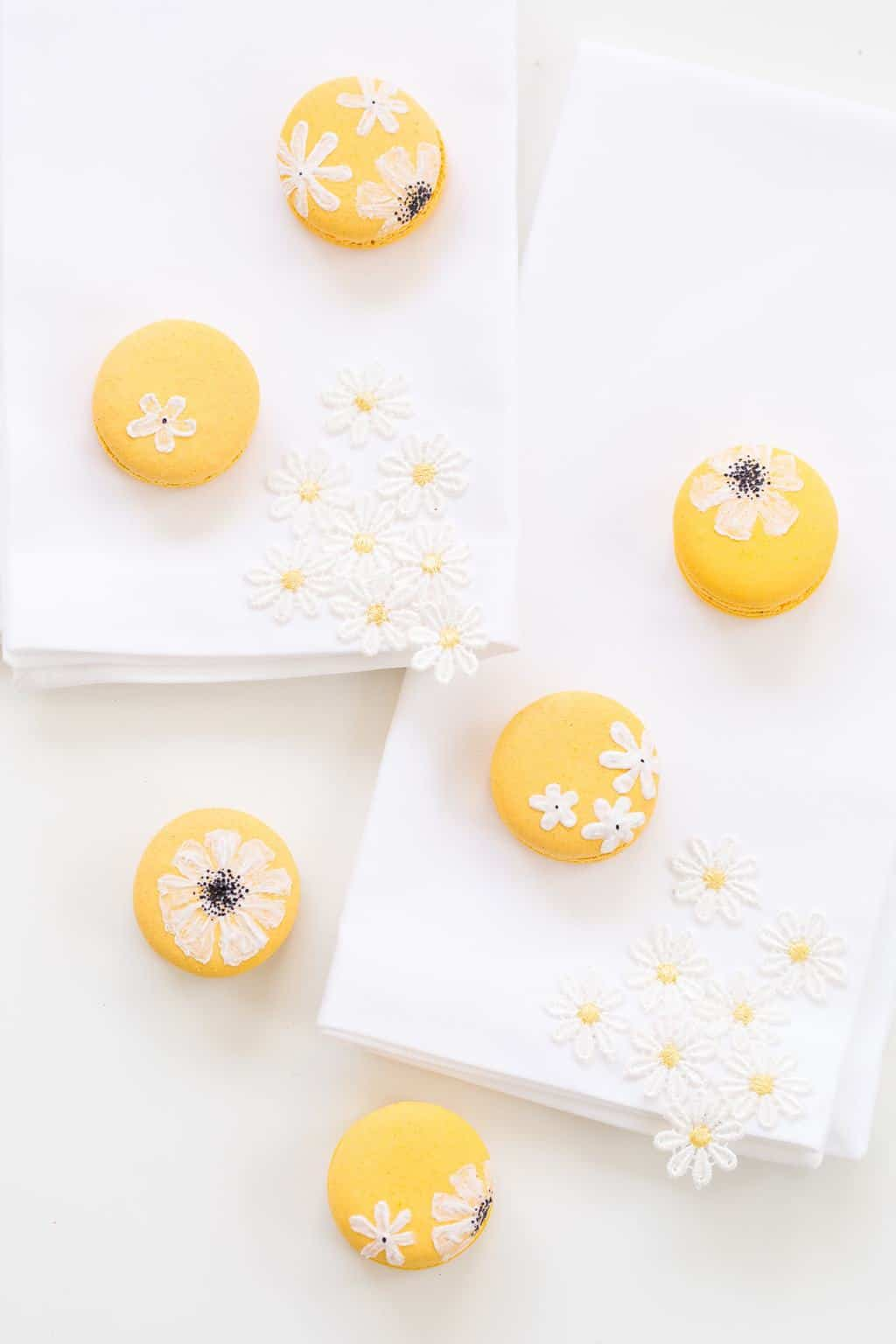 DIY wildflower macarons - sugar and cloth