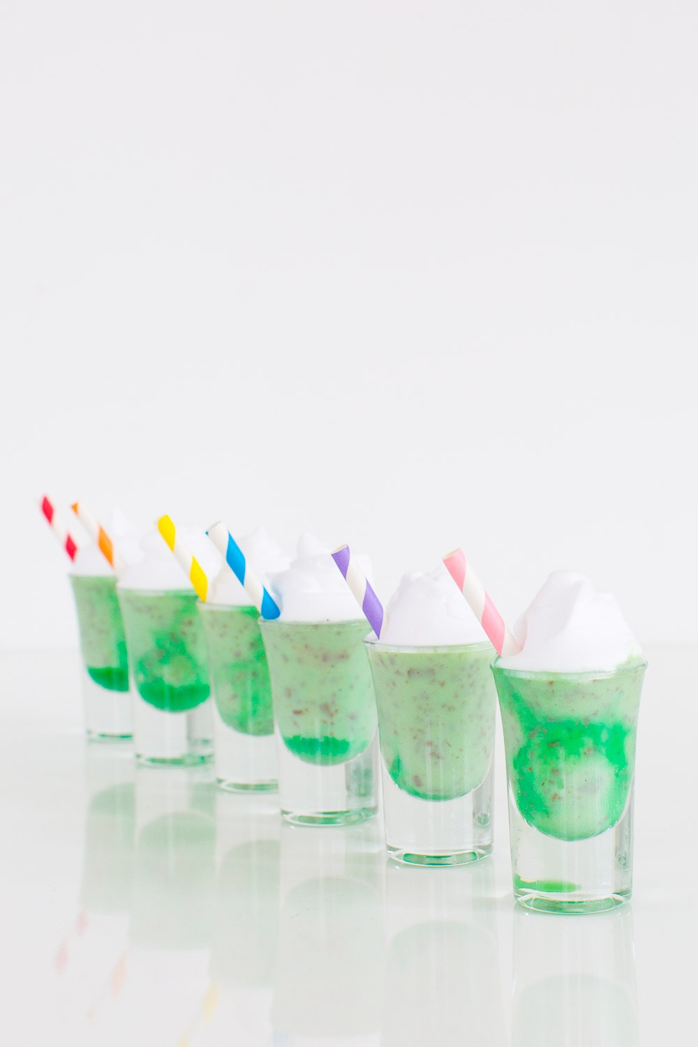 marble creme de menthe ice cream shots for St. Patrick's Day - sugar and cloth
