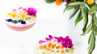 Edible Flower Rainbow Sour Cocktail Recipe