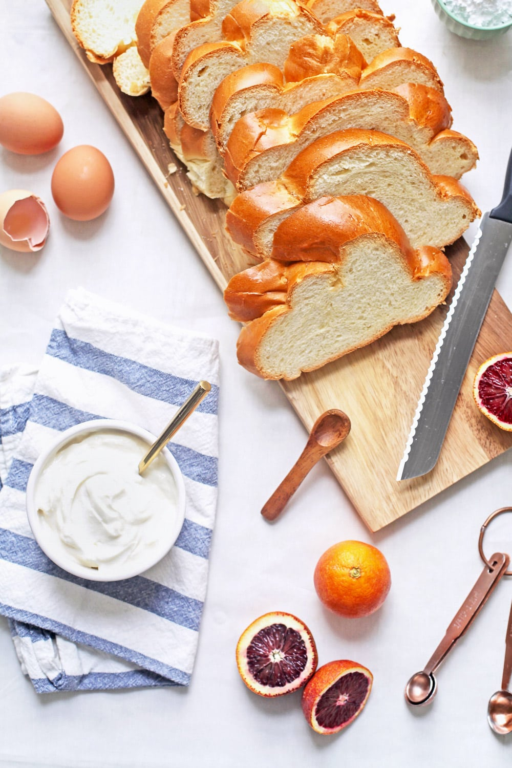A yummy whipped ricotta french toast with blood orange compote recipe to top it off! - sugar and cloth