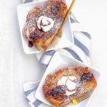 Whipped Ricotta Topped French Toast with Boozy Blood Orange Compote