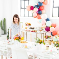 The perfect floral Spring Bridal Shower we hosted in the Sugar & Cloth studio! - houston texas blogger - ashley rose
