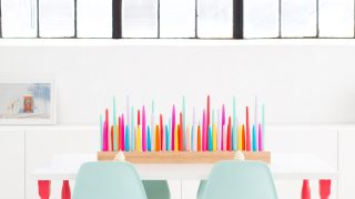 Rainbow DIY Taper Candle Holder