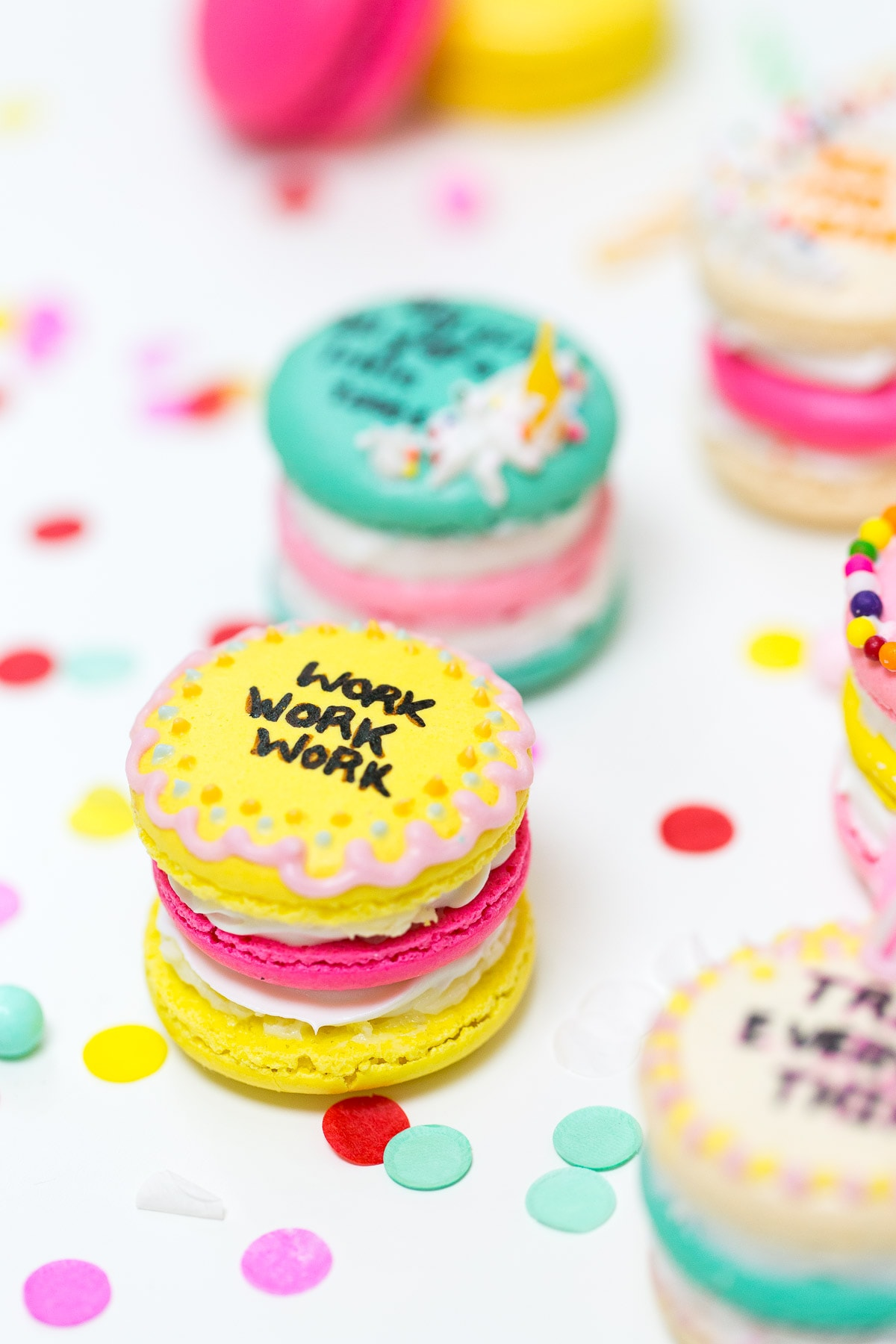 Drake on Cake Inspired Birthday Cake Macarons - Sugar & Cloth