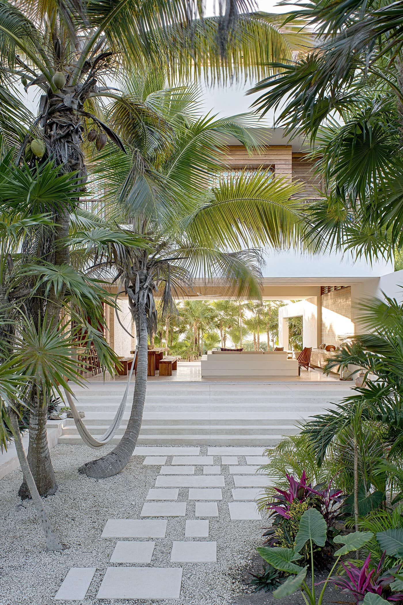 Super cool, modern beach front villa in Tulum