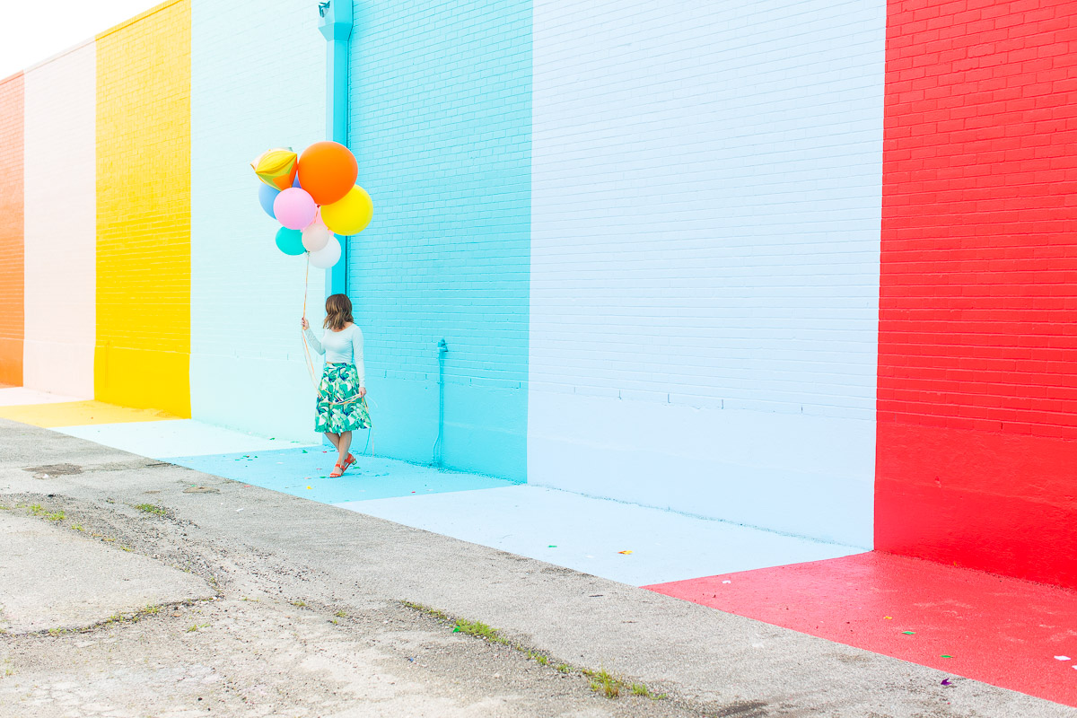 The Sugar and Cloth color wall in Houston, Texas ! #sugarandclothcolorwall