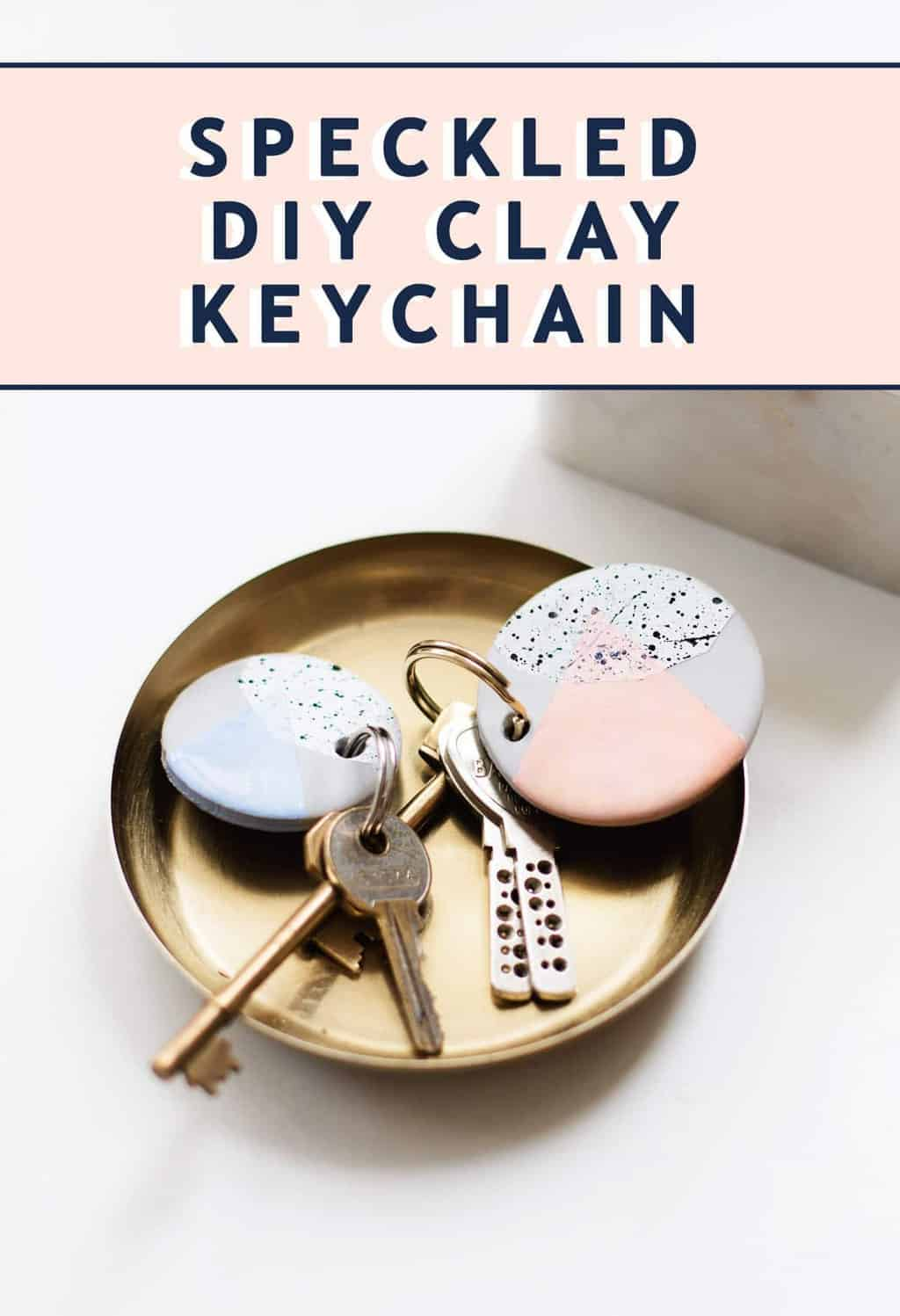 photo of how to make a Speckled DIY Clay Keychain by top Houston lifestyle blogger Ashley Rose of Sugar & Cloth